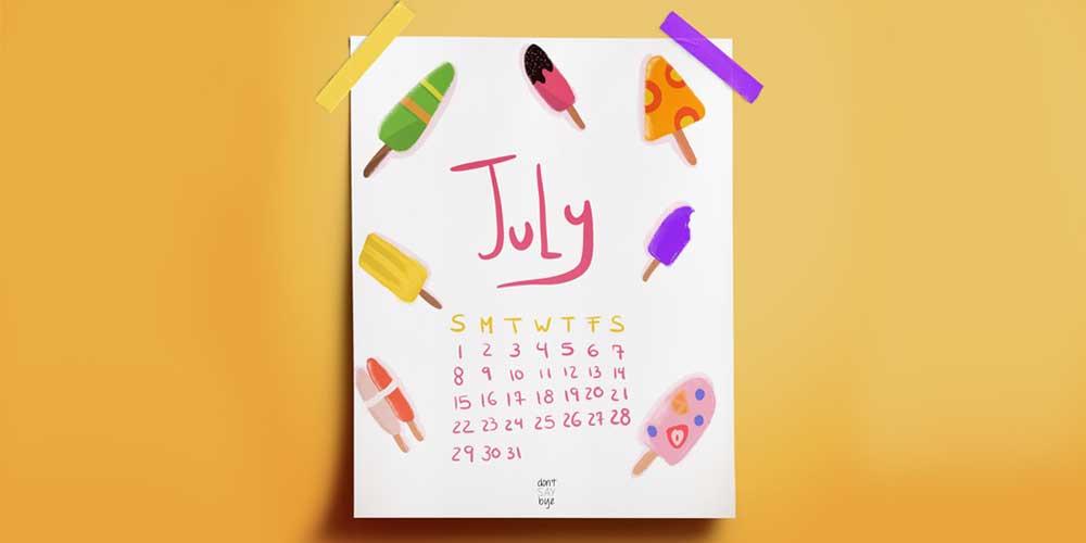 Printable July Calendar